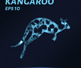 Kangaroo with points lines 3D vector