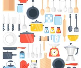 Kitchenware vector set