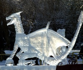 Large ice sculpture Stock Photo