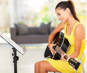 Learn guitar girls HD picture
