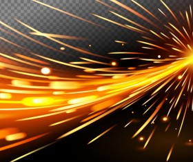 Light effect abstract backgrounds vectors 04