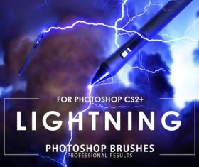 Lightning photoshop brushes pack
