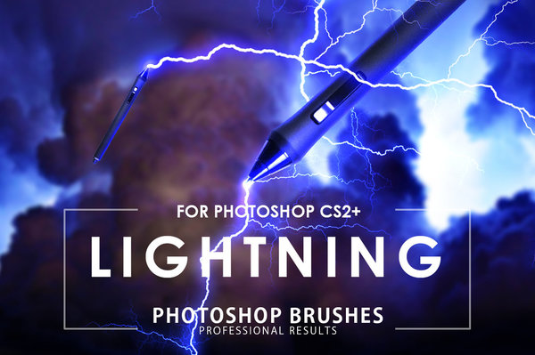 Lightning photoshop brushes pack