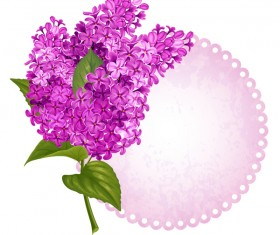 Lilac card template vector