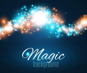 Magic light shine background vector 02
