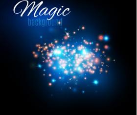 Magic light shine background vector 04