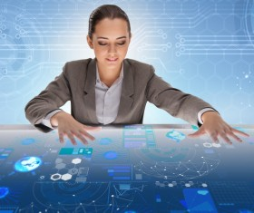 Master the advanced technology business woman Stock Photo 02