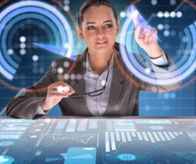 Master the advanced technology business woman Stock Photo 03