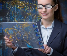 Master the advanced technology business woman Stock Photo 04