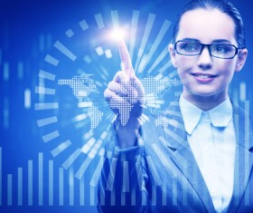 Master the advanced technology business woman Stock Photo 05