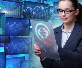 Master the advanced technology business woman Stock Photo 06