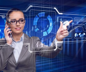 Master the advanced technology business woman Stock Photo 07