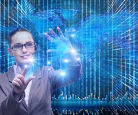 Master the advanced technology business woman Stock Photo 08