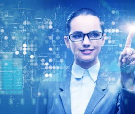 Master the advanced technology business woman Stock Photo 09