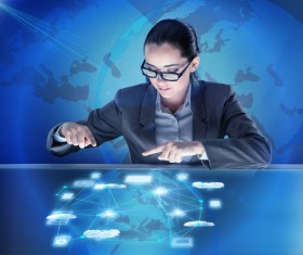 Master the advanced technology business woman Stock Photo 10