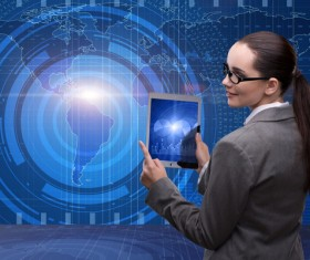 Master the advanced technology business woman Stock Photo 11