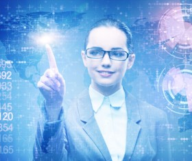 Master the advanced technology business woman Stock Photo 12