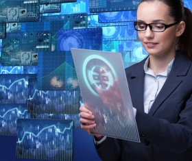 Master the advanced technology business woman Stock Photo 13