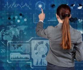 Master the advanced technology business woman Stock Photo 14
