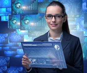 Master the advanced technology business woman Stock Photo 15