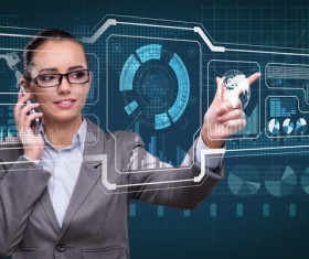 Master the advanced technology business woman Stock Photo 16