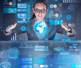 Master the advanced technology business woman Stock Photo 17