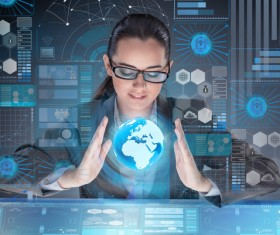 Master the advanced technology business woman Stock Photo 18