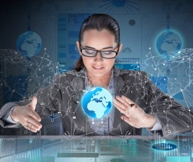 Master the advanced technology business woman Stock Photo 19