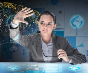 Master the advanced technology business woman Stock Photo 20