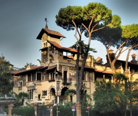 Mediterranean architectural style Stock Photo