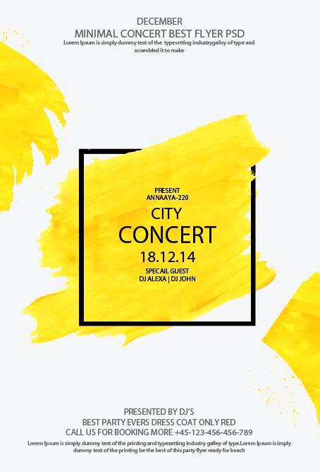 Minimal Concert Best Flyer Psd Template