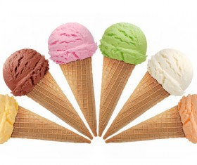 Mixed ice cream Stock Photo 02