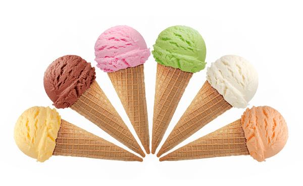Mixed ice cream Stock Photo 02