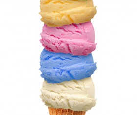 Mixed ice cream Stock Photo 04