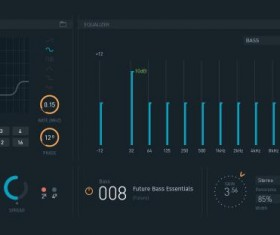 Modern Virtual Instruments UI Psd Material