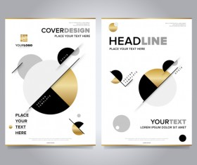 Modern style brochure and magazine cover vector