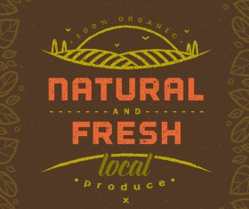 Natural fresh local produce poster template vector 02