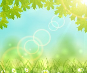 Nature background with leaves vector