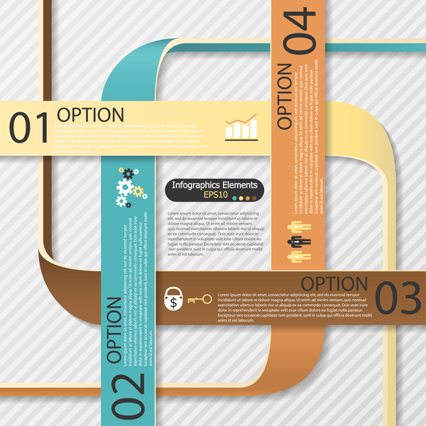Origami options infographic template vector 06