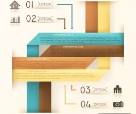 Origami options infographic template vector 08