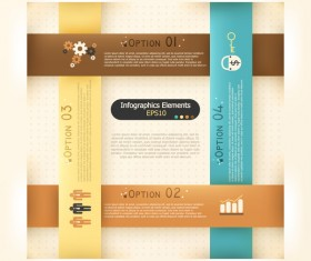 Origami options infographic template vector 10