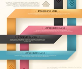 Origami options infographic template vector 12