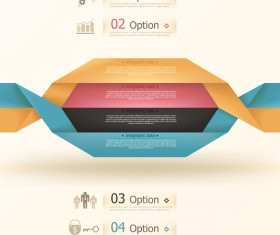 Origami options infographic template vector 13