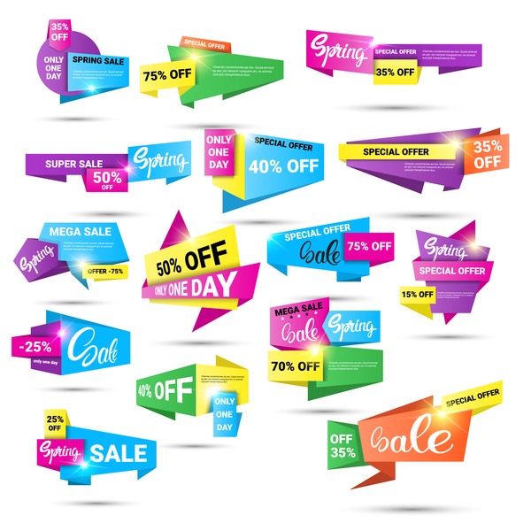 origami special offer labels vector free download