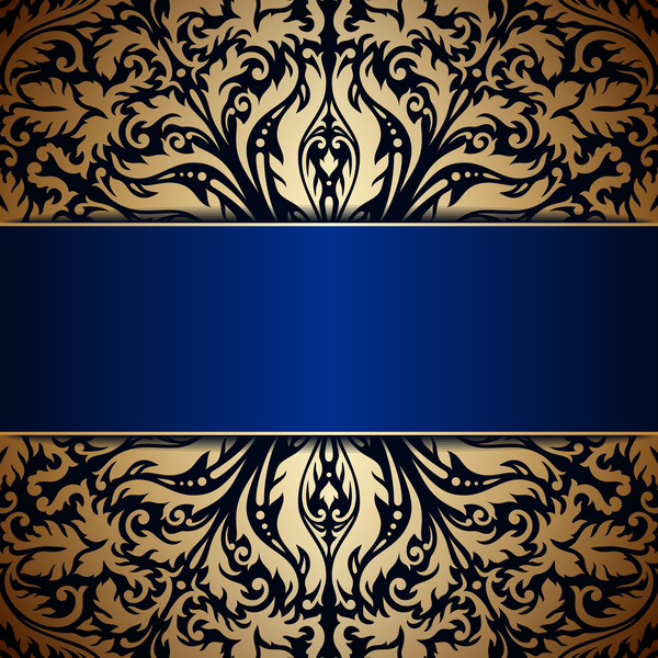 Ornamental Round Gold With Silver Vector Background 06
