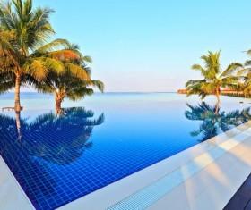 Outdoor pool Stock Photo