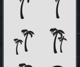 Palm tree photoshop brushes