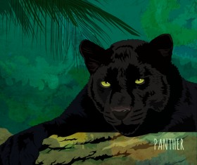 Panther hand drawn vector