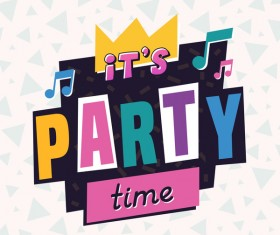 Party time label vector