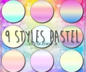 Pastel Photoshop Styles